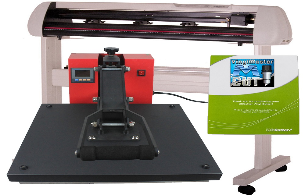 Uscutter Vinyl Cutter And 1clamshell Heat Press Bundle