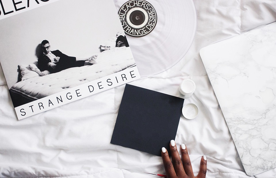 CD on bed